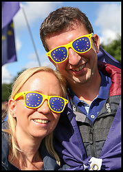 September 9, 2017 - London, London, United Kingdom - Image ©Licensed to i-Images Picture Agency. 09/09/2017. London, United Kingdom. Pro-EU rally against Brexit. Thousands of anti-Brexit campaigners take part in The People's March for Europe pro-EU rally in central London. The march and rally is being held against the 2016 Brexit decision – a democratic vote by the people of Britain. Picture by Dinendra Haria / i-Images (Credit Image: © Dinendra Haria/i-Images via ZUMA Press)