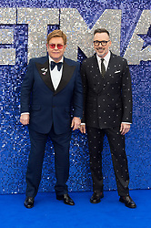 May 20, 2019 - London, England, United Kingdom - (L-R) Elton John and David Furnish arrive for the UK film premiere of 'Rocketman' at Odeon Luxe, Leicester Square on 20 May, 2019 in London, England. (Credit Image: © Wiktor Szymanowicz/NurPhoto via ZUMA Press)