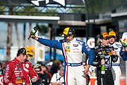January 22-25, 2015: Rolex 24 hour. 02, Ford EcoBoost, Riley DP, P, Scott Dixon, Tony Kanaan, Kyle Larson, Jamie McMurray celebrate after winning the Rolex 24