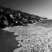 Nobbys Breakwater at the mouth of the Hunter River, Newcastle, Eastern Australia coast