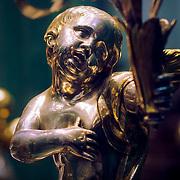 Golden statue detail, Cordoba, Spain (January 2007)