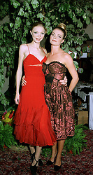 Left to right, model JODIE KIDD and her sister MISS JEMMA KIDD, daughters of Johnny Kidd grandson of the late Lord Beaverbrook, at a ball in London on 22nd May 1997.LYO 98
