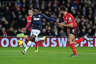 Man Utd's Danny Welbeck in action. Barclays Premier League match, Cardiff city v Manchester Utd at the Cardiff city stadium in Cardiff, South Wales on Sunday 24th Nov 2013. pic by Andrew Orchard, Andrew Orchard sports photography,
