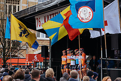 Boels Dolmans are presented to the crowds in Ieper - Women's Gent Wevelgem 2016, a 115km UCI Women's WorldTour road race from Ieper to Wevelgem, on March 27th, 2016 in Flanders, Netherlands.