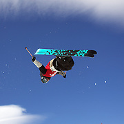 Peter Crook, BritishVirgin Islands, in action in the Men's Halfpipe Finals during The North Face Freeski Open at Snow Park, Wanaka, New Zealand, 3rd September 2011. Photo Tim Clayton...