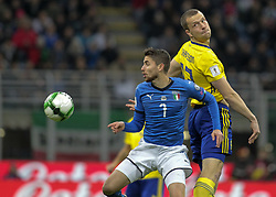 November 13, 2017 - Milan, Italy - Jorginho during the playoff match for qualifying for the Football World Cup 2018  between Italia v Svezia, in Milan, on November 13, 2017. (Credit Image: © Loris Roselli/NurPhoto via ZUMA Press)
