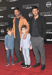 December 10, 2016 - Los Angeles, California, United States - December 10th 2016 - Los Angeles California USA - Singer RICKY MARTIN, family  at the World Premiere for ''Rogue One Star Wars'' held at the Pantages Theater, Hollywood, Los Angeles  CA (Credit Image: © Paul Fenton via ZUMA Wire)