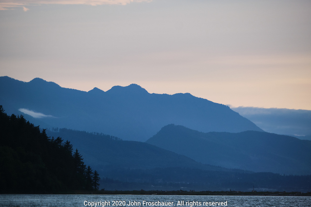 Olympic Mountains seen near the Dungeness Spit, Friday, July 10, 2020, near Sequim WA. (Photo/John Froschauer)