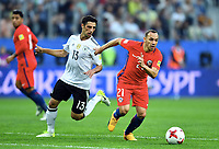 v.l.  Lars Stindl (Deutschland), Marcelo Diaz<br /> St. Petersburg, 02.07.2017, Fussball, Confederations Cup 2017 in Russland, Finale, Chile - Deutschland<br /> Chile - Tyskland<br /> Norway only