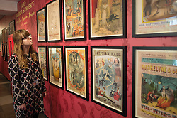 A person looks at exhibits in the British Library, London during the opening of Victorian Entertainments: There Will Be Fun which explores popular Victorian entertainments which have shaped the theatrical traditions of today.