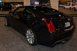 CHARLOTTE, NORTH CAROLINA - NOVEMBER 20, 2014: Cadillac ATS Coupe on display during the 2014 Charlotte International Auto Show at the Charlotte Convention Center.