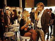 CHLOE CUNNINGHAM; CALLUM MACQUEEN, The launch of the Peroni Nastro Azzurro Accademia del Film Wrap Party Tour. Brick Lane. 25 August 2010. -DO NOT ARCHIVE-© Copyright Photograph by Dafydd Jones. 248 Clapham Rd. London SW9 0PZ. Tel 0207 820 0771. www.dafjones.com.