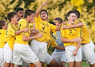 Thiells, New York - Clarkstown South plays North Rockland in a varsity boys' soccer game on Sept. 18, 2014.