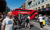 Tens of thousands of Anti Vaccine and anti lockdown protestors march through London, to protest against the use of vaccine passports and lockdowns.24 aprial 2021 photo by Mark anton Smith