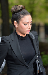 Former X Factor judge Tulisa Contostavlos arrives at Southwark Crown Court in connection with a class-a drugs charge.<br /> Tuesday, 22nd April 2014. Picture by Ben Stevens / i-Images