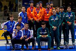 14-01-2018 DUI: ISU European Short Track Championships 2018 day 3, Dresden<br /> Nederland wint de 5000 meter relay, Rusland tweede en Hongarije derde