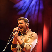 WASHINGTON, DC - January 24th, 2014 -  Fleet Foxes' Robin Pecknold performs at the 9:30 Club in Washington, D.C. with members of Beach House, The Walkmen, Wye Oak, Grizzly Bear and other bands during a tribute to Gene Clark's seminal 1974 album, No Other.  (Photo by Kyle Gustafson /  For The Washington Post)