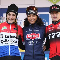 01-01-2020: Wielrennen: DVV trofee veldrijden: Baal: Ceylin Alvarado wint in Baal voor Lucinda Brand en Annemarie Worst