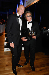 Left to right, Editor of GQ DYLAN JONES and ROGER DALTREY winner of the Editor's Choice Award at the GQ Men of The Year Awards 2013 in association with Hugo Boss held at the Royal Opera House, London on 3rd September 2013.