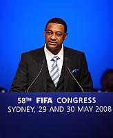Fotball<br /> Foto: imago/Digitalsport<br /> NORWAY ONLY<br /> <br /> 30.05.2008 <br /> Jeffrey Webb (Cayman Islands), FIFA Internal Audit Committee, hält eine Rede anlässlich des FIFA Kongresses in Sydney 2008
