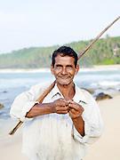 A fisherman in Tangalle, Sri Lanaka