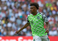 Football - 2018 International Friendly (pre-World Cup warm-up) - England vs. Nigeria<br /> <br /> Alex Iwobi (Nigeria) at Wembley Stadium.<br /> <br /> COLORSPORT/DANIEL BEARHAM