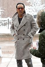 Nicolas Cage gets caught in a snow storm - 22 Jan 2018