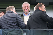 Roman Abramovich, the owner of Chelsea looking on from the stands. Premier league match, Chelsea v Arsenal at Stamford Bridge in London on Saturday 4th February 2017.<br /> pic by John Patrick Fletcher, Andrew Orchard sports photography.