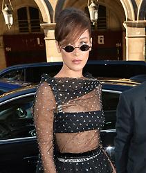 Bella Hadid seen arriving at Dior party <br /><br />4 July 2017.<br /><br />Please byline: PalaceLee/Vantagenews.com