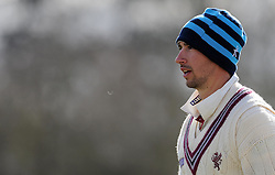 Somerset's Alex Barrow - Photo mandatory by-line: Harry Trump/JMP - Mobile: 07966 386802 - 24/03/15 - SPORT - CRICKET - Pre Season Fixture - Day 2 - Somerset v Glamorgan - Taunton Vale Cricket Club, Somerset, England.