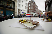 eating RAW herring in the streets of Amsterdam