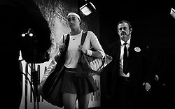 May 8, 2019 - Madrid, MADRID, SPAIN - Caroline Garcia of France on her way to the court for her third-round match at the 2019 Mutua Madrid Open WTA Premier Mandatory tennis tournament (Credit Image: © AFP7 via ZUMA Wire)