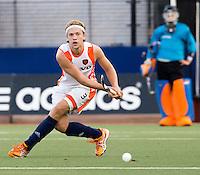 DEN BOSCH -   Mats de Groot tijdens de wedstrijd tussen de mannen van Jong Oranje  en Jong Engeland, tijdens het Europees Kampioenschap Hockey -21. ANP KOEN SUYK
