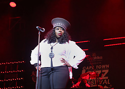 Apr 1, 2016 - Cape Town, Western Cape , South Africa - ANGIE STONE performed at the 16th Annual Cape Town Jazz Festival, that took place at the Cape Town International Convention Centre. (Credit Image: © Bertram Malgas via ZUMA Wire)