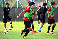 October 13, 2017 - Kolkata, West Bengal, India - Players of the Japan football team during a practice session ahead of their match at FIFA U 17 World Cup India 2017 on October 13, 2017 in Kolkata. (Credit Image: © Saikat Paul/Pacific Press via ZUMA Wire)