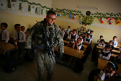 Children at a school in Adhamiya visited by soldiers with Charlie Co. 1-26 Infantry 1st Infantry Division who came to hand out school supplies and see what might be needed by the students and teachers on Sunday April 29, 2007.