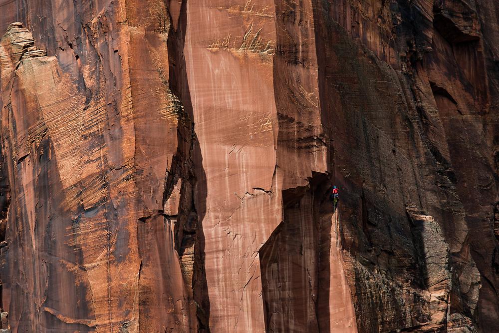 Climber on the Moonlight Butress