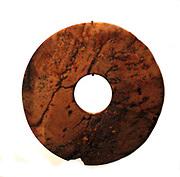 Disque bi : Han dynasty (206 B.C - 220 A.D. Jade. China (Geography)