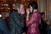 Rhys Ifans; Daisy Lowe Criterion Restaurant  celebrates its 135th anniversary. Piccadilly Circus. London. 2 February 2010
