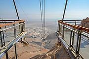 Israel, Masada The cablecar ascending to the mountain top
