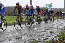March 1, 2017 - Dour, Belgique - DOUR, BELGIUM - MARCH 1 : Illustration picture of the peloton during the 49th Grand Prix Samyn cycling race with start in Quaregnon and finish in Dour on March 01, 2017 in Dour, Belgium, 1/03/2017 (Credit Image: © Panoramic via ZUMA Press)