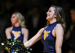 Jan 19, 2019; Morgantown, WV, USA; A West Virginia Mountaineers dancer performs before their game .ak. at WVU Coliseum. Mandatory Credit: Ben Queen-USA TODAY Sports