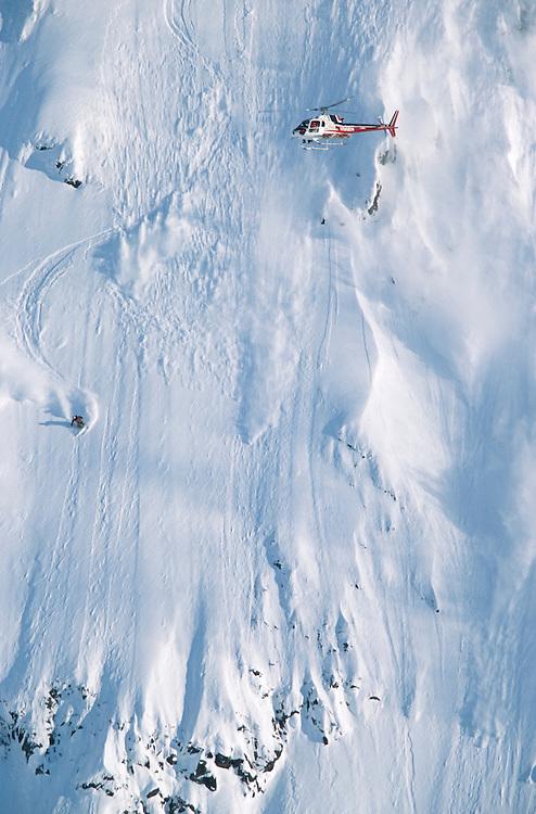 Alaska. Girdwood. Jeremy Nobis snowboarding.