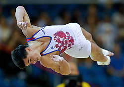 DOHA, Nov. 3, 2018  Artur Dalaloyan of Russia competes during the men's floor exercise final at the 2018 FIG Artistic Gymnastics World Championships in Doha, capital of Qatar, Nov. 2, 2018. Dalaloyan won the gold medal with 14.900 points. (Credit Image: © Yangyuanyong/Xinhua via ZUMA Wire)
