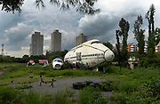 The Aeroplane Graveyard,where abandoned aircraft have been colonised by the poor as dwellings