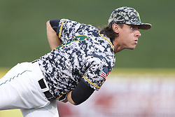 24 July 2015:  Pitcher Marc Rutledge during a Frontier League Baseball game between the Gateway Grizzlies and the Normal CornBelters at Corn Crib Stadium on the campus of Heartland Community College in Normal Illinois