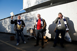 Programme sellers  outside before the match - Photo mandatory by-line: Rogan Thomson/JMP - 07966 386802 - 20/05/2015 - SPORT - Rugby Union - Bristol, England - Ashton Gate Stadium - Bristol Rugby v Worcester Warriors - Greene King IPA Championship Play-Off Final 1st Leg.