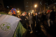 Boston, MA 12/09/2011.Boston Police Superintendent William Evans clears an Occupy Boston tent out of Atlantic Avenue early Friday morning..Alex Jones / www.alexjonesphoto.com