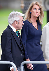 © Licensed to London News Pictures. 10/09/2019. London, UK. Speaker John Bercow and his wife Sally Bercow attend a memorial service for Lord Paddy Ashdown at Westminster Abbey in central London. Photo credit: Peter Macdiarmid/LNP