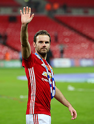 Juan Mata of Manchester United waves to the fans at full time - Mandatory by-line: Matt McNulty/JMP - 26/02/2017 - FOOTBALL - Wembley Stadium - London, England - Manchester United v Southampton - EFL Cup Final